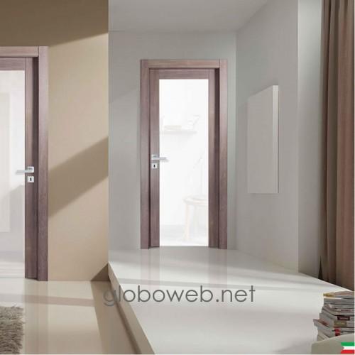 porte interne bianche e varie finiture Compost FV con vetro visarm globoweb