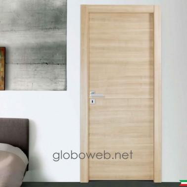 porte interne bianche e varie finiture Techwood Base 1i 1 inserto globoweb