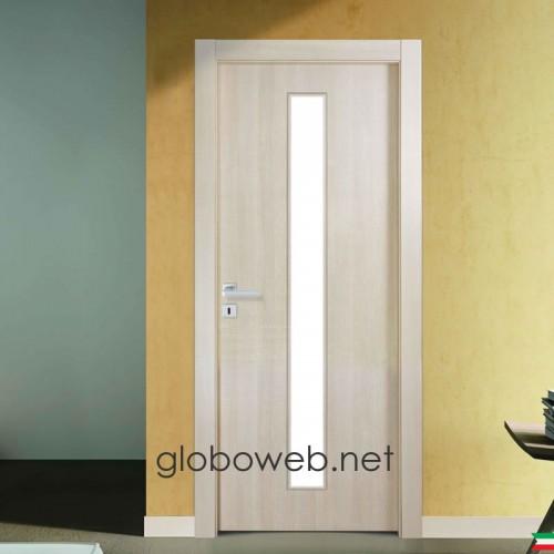 porte interne bianche e varie finiture Techwood Base VC vetro centrale globoweb