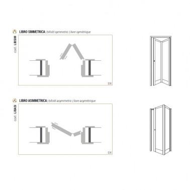 aperture porte interne a libro simmetriche e asimmetriche globoweb