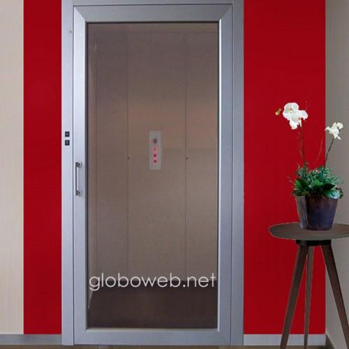 mini ascensori con porta panoramica globoweb