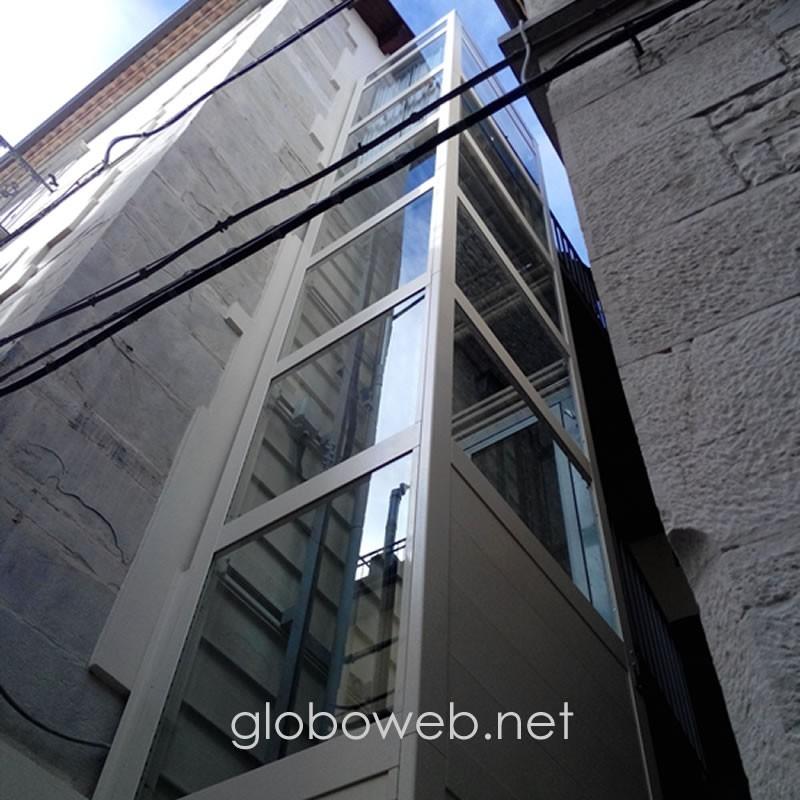 mini ascensori con castelletto panoramico globoweb