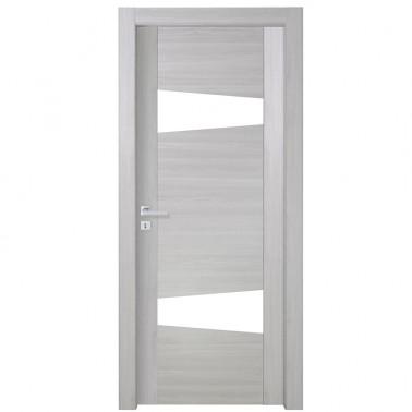 porte interne bianche e varie finiture Compost Vela con vetro visarm globoweb