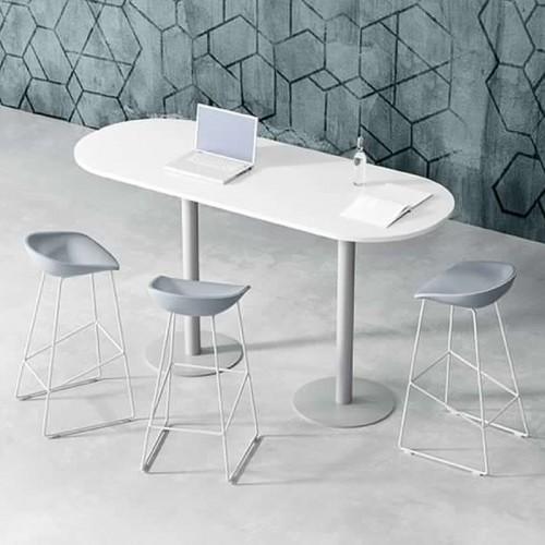 Seduta Attesa Skyline braccioli e base alluminio